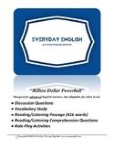 Complete Adult ESL Lesson (Billion Dollar Powerball)