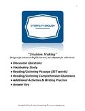 Complete Adult ESL Lesson (Decision Making)