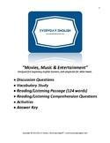 Complete Adult ESL Lesson (Movies, Music & Entertainment)