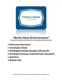 Complete Adult ESL Lesson (Movies, Music & Entertainment)