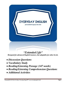 Complete Adult ESL Lesson (Extended Life)