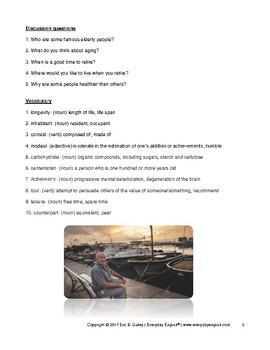 Complete Adult ESL Lesson (How to Live to 100)