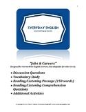 Complete Adult ESL Lesson (Jobs & Careers)