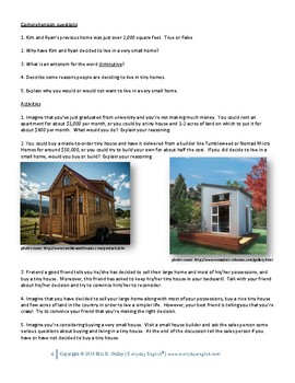 Complete Adult ESL Lesson (Tiny Homes)