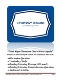 Complete Adult ESL Lesson (Toxic Algae Threatens Ohio's Water Supply)