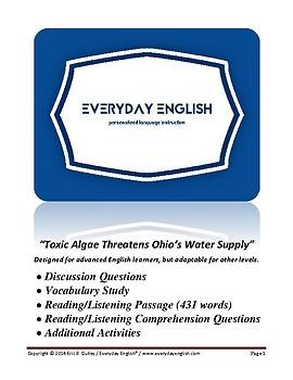 Complete Adult ESL Lesson (Toxic Algae Threatens Ohio's Water Supply)