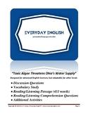 Complete Adult ESL Lesson (Toxic Algae Threatens Ohio's Wa