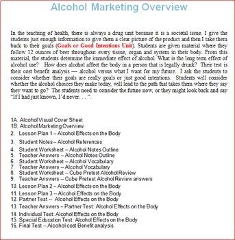 Alcohol Unit -- All Lessons Bundle with Optional Bonus