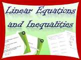 Complete Algebra 2 Unit on linear equations and inequalities
