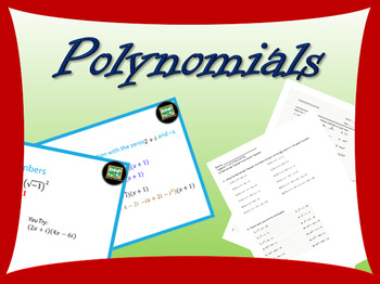 Complete Algebra 2 unit on polynomials with powerpoints
