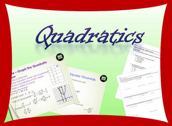 Complete Algebra 2 unit on quadratics with power point, as