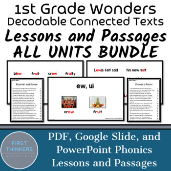 Units BUNDLE Wonders Phonics Lessons and Phonics Passages | Phonics Practice
