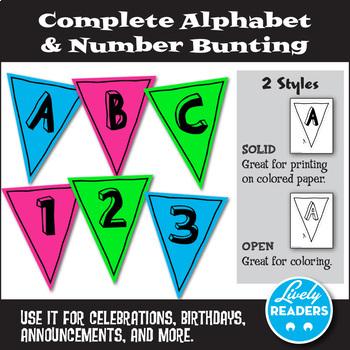 Free Alphabet & Number Bunting
