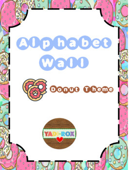 COMPLETE Alphabet  Wall Kit - Donuts Theme