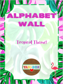 COMPLETE Alphabet Wall Kit - Tropical Theme