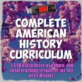Complete American History Curriculum USB Flash Drive