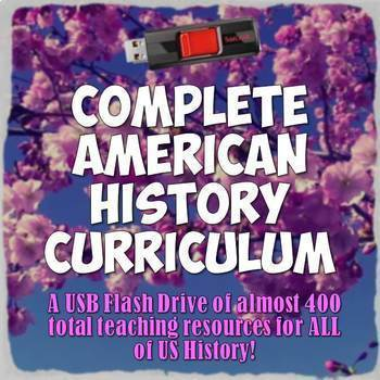 Complete American History Curriculum - Every Resource in M