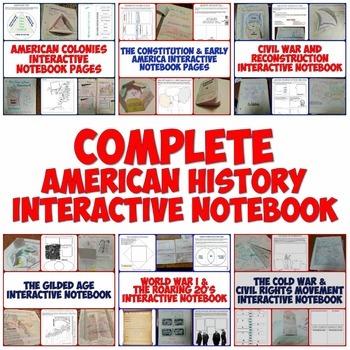 Complete American History Interactive Notebook Bundle