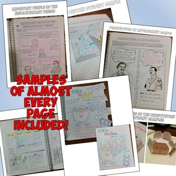 American History Complete Interactive Notebook Bundle