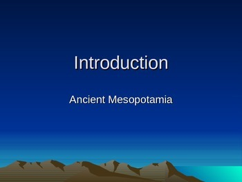 Complete Ancient Mesopotamia Unit PowerPoints