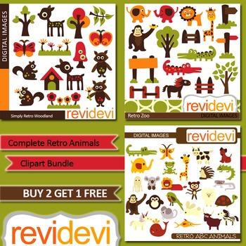 Complete Animals Clip art (3 packs)