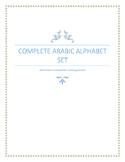 Complete Arabic Alphabet Set