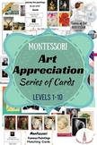 Montessori Art Appreciation Series of Cards Levels 1-10 Bundle