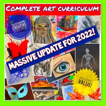 Complete Art Curriculum for Middle School 2020 + Supporting Art Resources