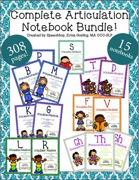 Complete Articulation Notebook Bundle! {15 notebooks, 308 pages}