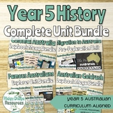 Complete Australian Curriculum Year 5 History Units Bundle Option 1