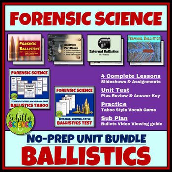 Forensic Science Ballistics Complete Unit No Prep By Schilly Science