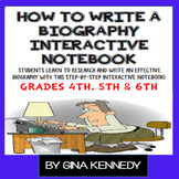 Biography Writing Interactive Notebook, Step-By-Step Step-
