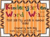 Complete Bright Kindergarten Word Wall