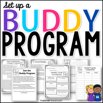 Complete Buddy Program Pack {Editable}