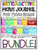 Complete Bundle 3rd Grade Interactive Math Journal