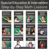 Complete Bundle of ALL Step-by-Step Math Workbooks | Special Education Math