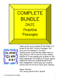 Complete Bundle of Packs 1 & 2 DAZE Reading Practice Passages for Intermediate