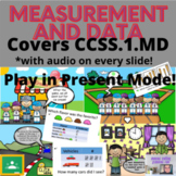 Complete CCSS.1.MD Word Problem Story Interactive and Self-Correcting Slides