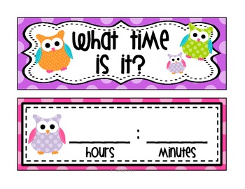 Complete Calendar Math Bulletin Board Set {Polka Dot and Owls Theme}