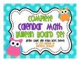 Complete Calendar Math Bulletin Board Set {Polka Dot and Owls Theme}
