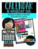 Complete Calendar Set English & Spanish--Months, Days, Wea