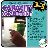 Capacity Activity Kit US Customary/Metrics - Common Core Aligned