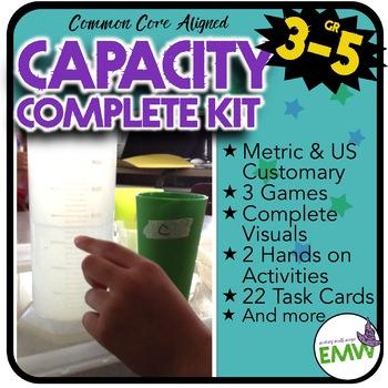 Capacity Activity Kit US Customary/Metrics - Common Core Aligned