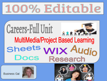 Complete Careers Unit-Incl Activities, Projects, and Rubric Multimedia