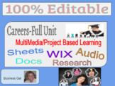 Complete Careers Unit-Incl Activities, Projects, and Rubri
