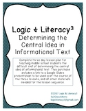Complete Central Idea Lesson Plan - 3 Day Sequence