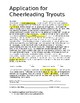 Complete Cheerleading Tryout Packet