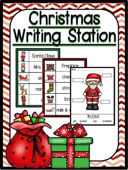 Complete Christmas Writing Station