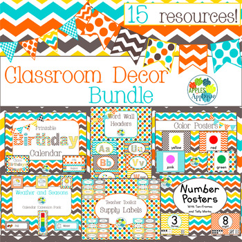 Classroom Decor BUNDLE in Candy Colors Theme