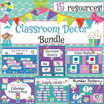Classroom Decor BUNDLE in Candy Shop Theme